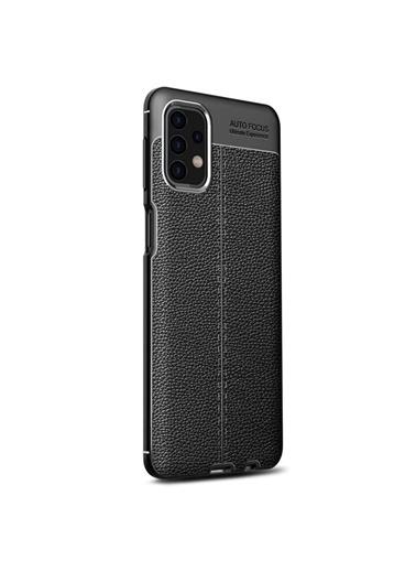 Microsonic Samsung Galaxy A32 4G Kılıf Deri Dokulu Silikon Kırmızı Siyah